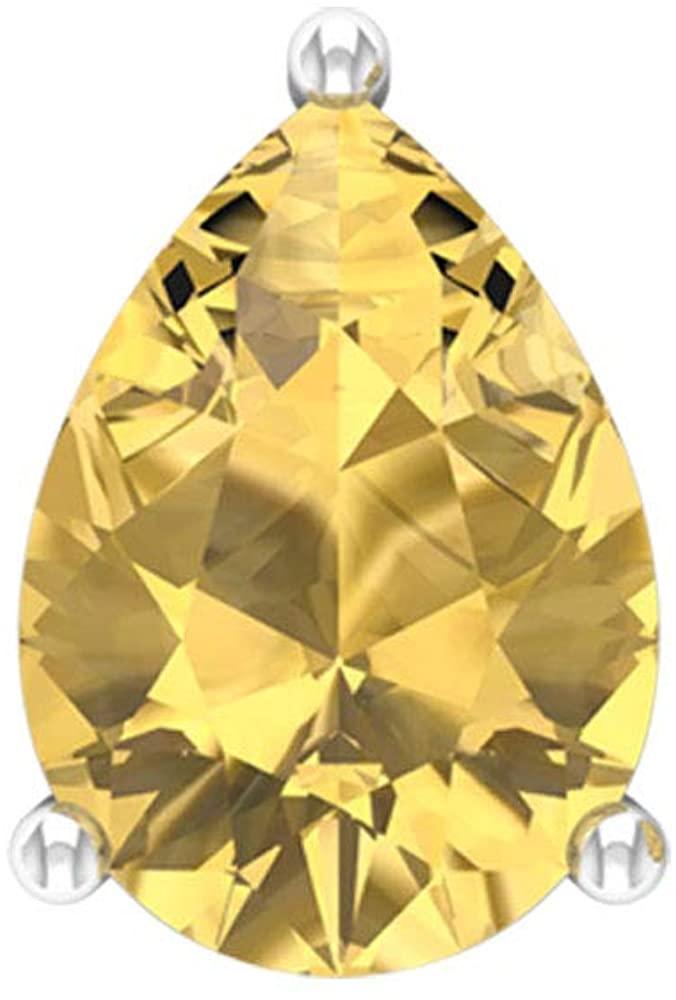 1.3 Ct Solitaire Citrine Earring, Pear Shape Gemstone Earring, Bridal Wedding Earring, Minimalist Statement Earring, Party Earring, Screw back