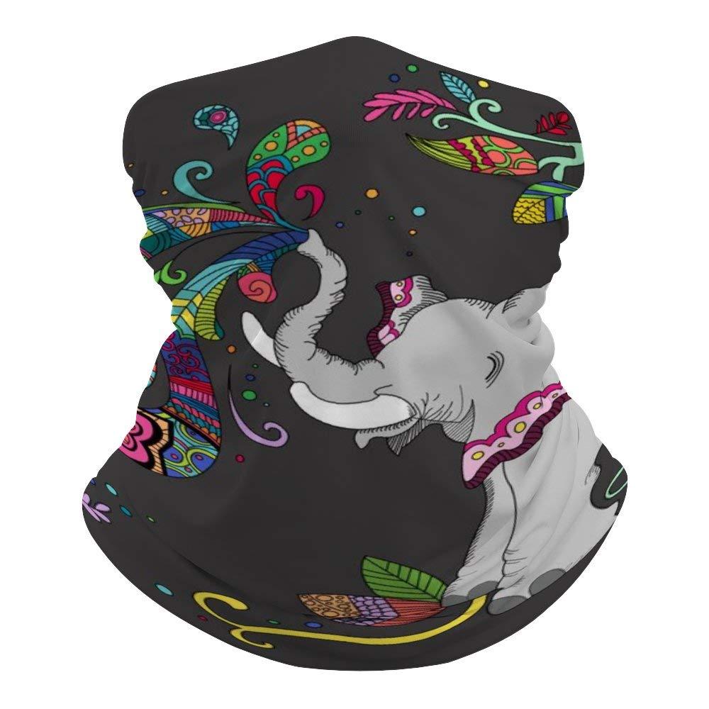 Unisex Seamless Face Mask Bandanas Neck Gaiter Tube Headwear Bandana, Elephant. Animal Elephants Face Mask Bandanas For Dust, Motorcycle Face Bandana For Women Men Face Scarf