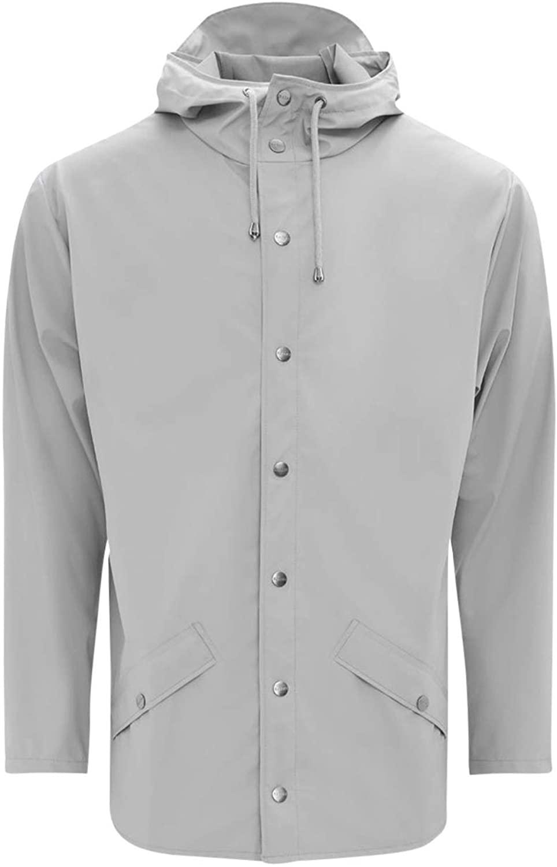 RAINS Unisex Waterproof Jacket, Stone, X-Small/Small