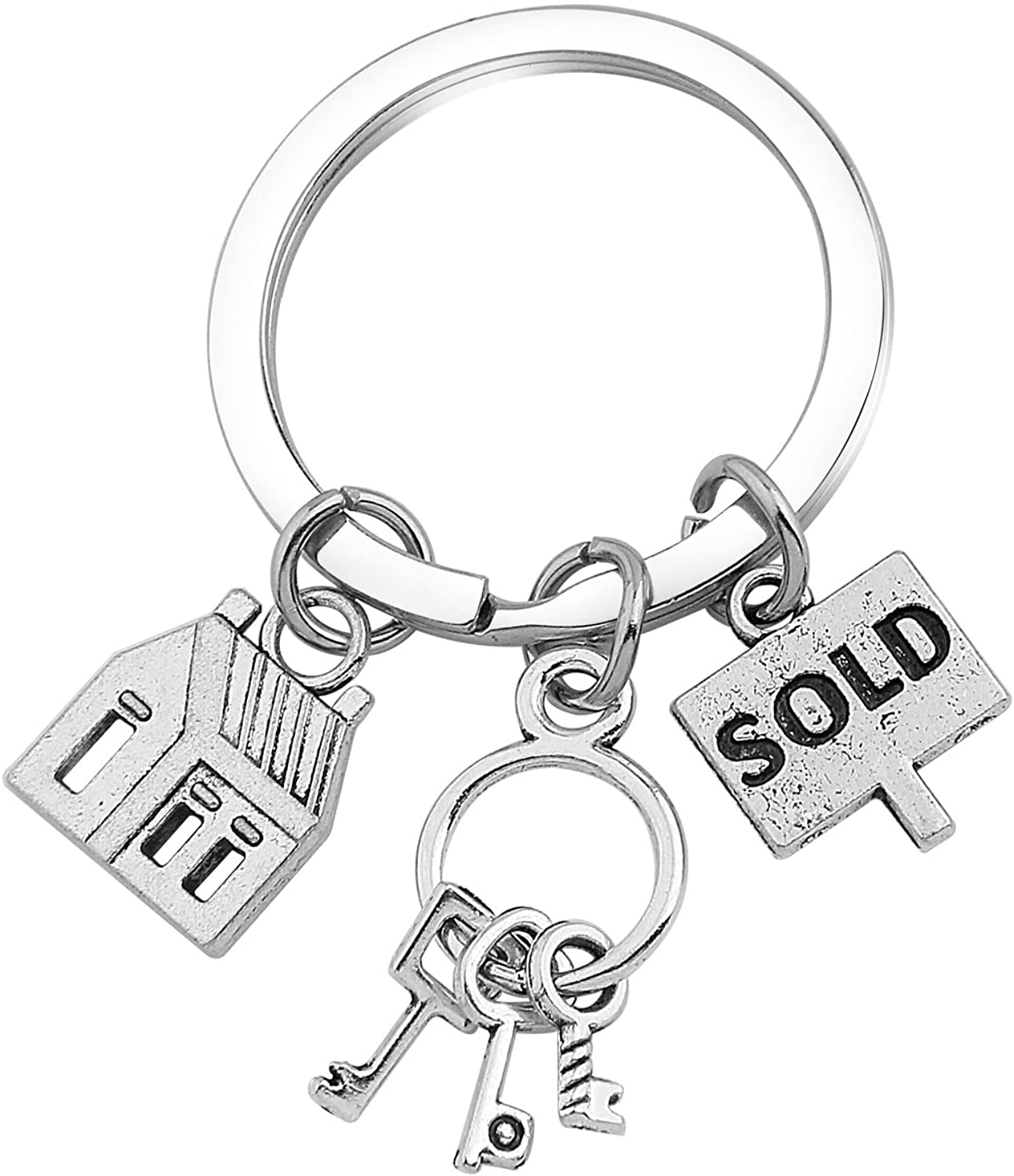 SEIRAA Real Estate Agent Charm Bangle Adjustable Wire Bracelets Stainless Steel Realtor Jewelry Gifts
