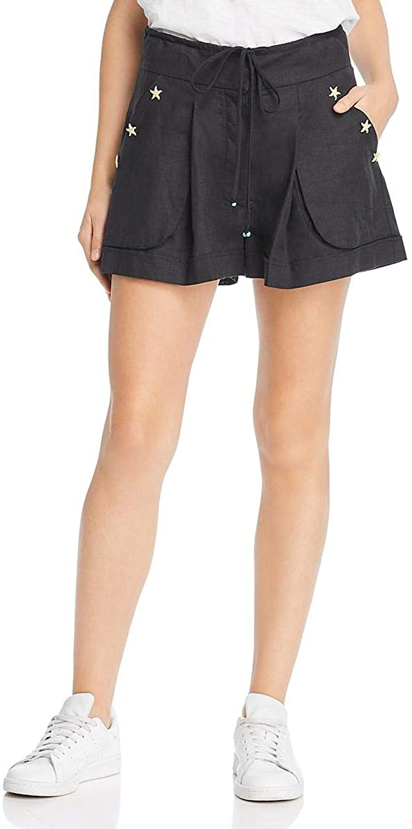 A Mere Co. Womens Studded High Waist Casual Shorts