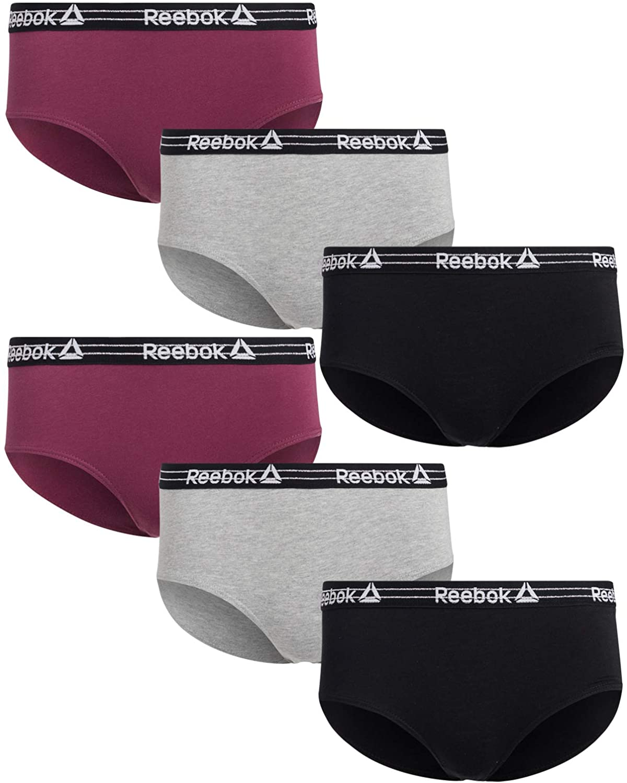Reebok Women's Cotton Stretch Hipster Panties (6 Pack)