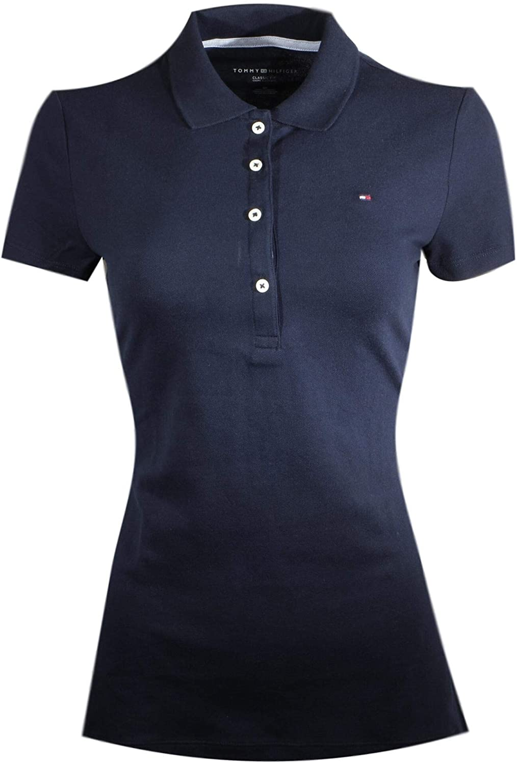 Tommy Hilfiger Women's Classic Fit Logo Polo T-Shirt