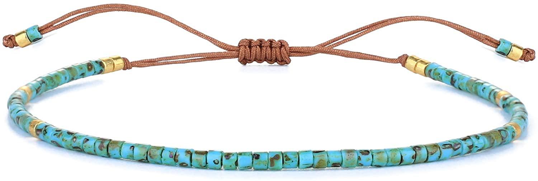 KELITCH Miyuki Beaded Friendship Bracelets Thin Rope Bracelets Women Handmade Wrap Bracelets Jewelry