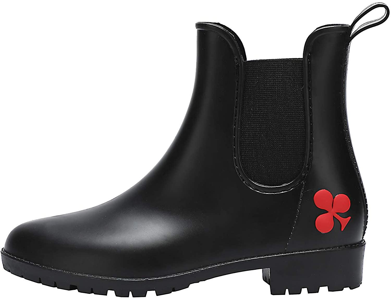 dripdrop Chelsea Boot Waterproof Rain Boots for Women Anti-Slip Ankle Garden Shoes