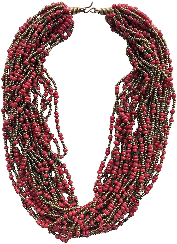 African handmade Bead Necklace