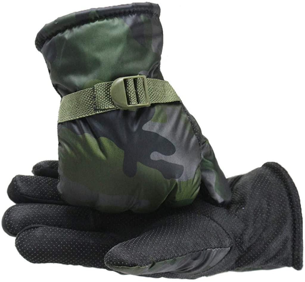 Men Winter Velvet Gloves Non-Slip Warm Outdoor Driving Thickening Plus Gloves