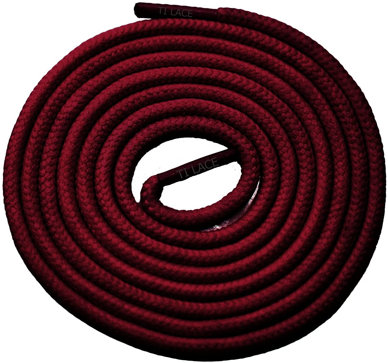 36 Burgundy 3/16 Round Thick Shoelace For All Womens Shoes