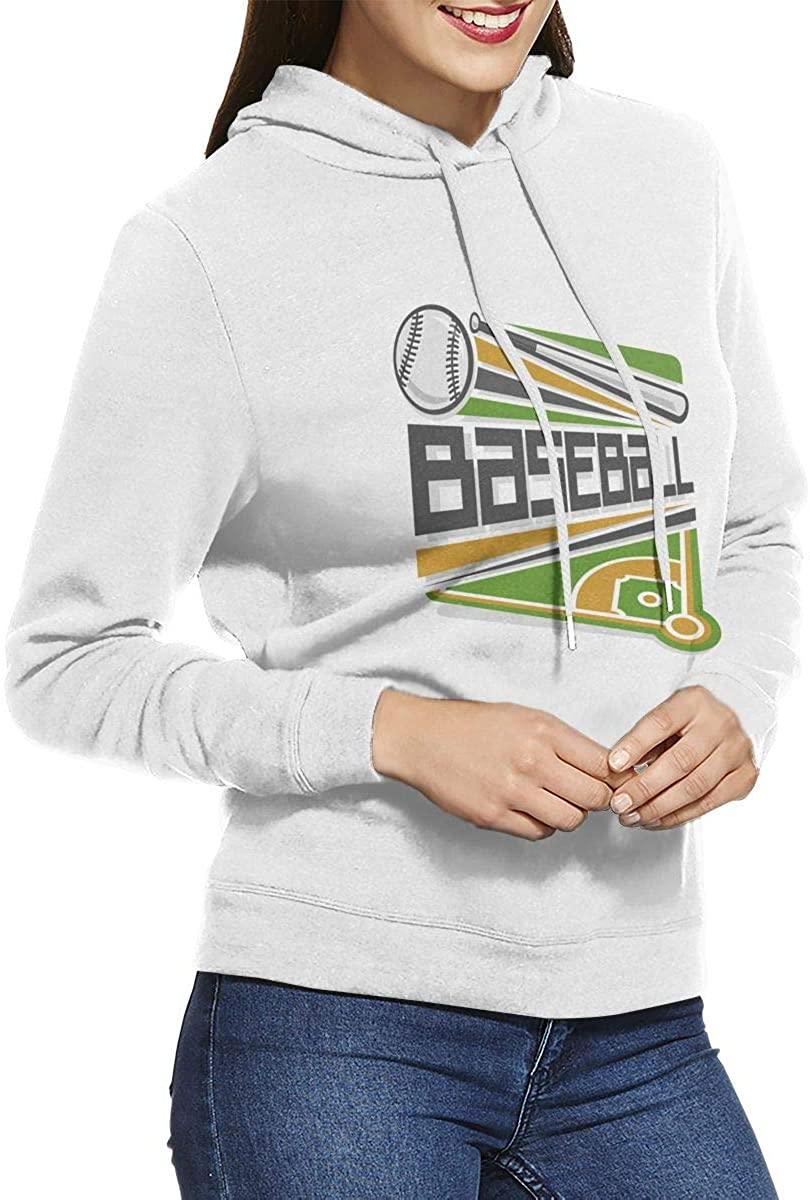 Baseball Womens Pullover Hoodie Long Sleeve Hooded Sweatshirts