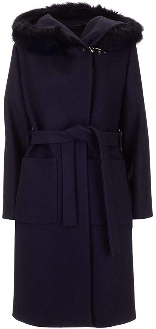 fay Luxury Fashion Woman NAW5439357URCPU807 Blue Wool Coat | Fall Winter 19