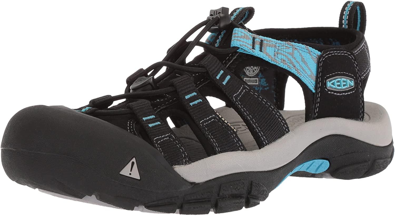 KEEN Women's Newport Hydro-W Sandal, Black/Norse Blue, 6 M US