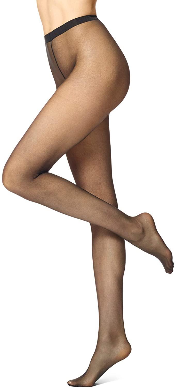 No Nonsense Women's Waist Pantyhose with Sheer Toe, 2 Pack