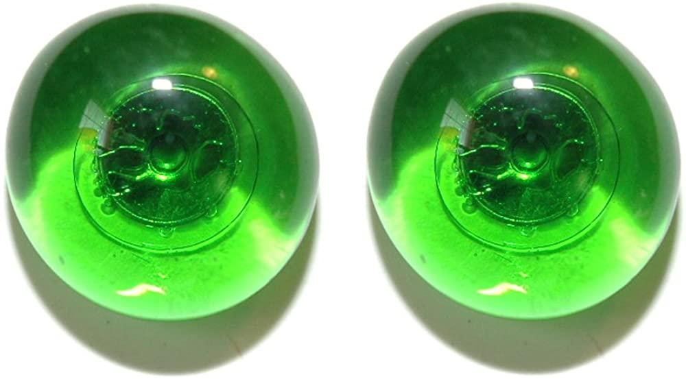 Bright Green Semi Transparent Glass Gem Clip On Earrings (S115clip)
