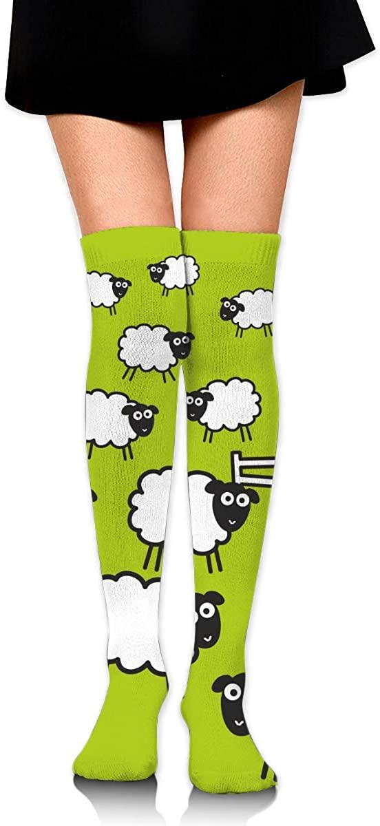 Dress Sock Sheep Goat Anime High Knee Hose Soccer Hold-Up Stockings For Fitness