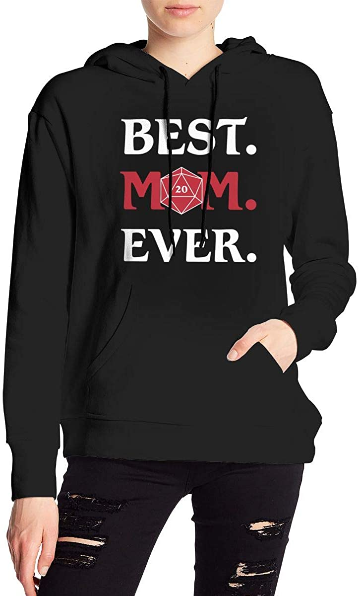 Nbcf Best Moms Ever Women's Long Sleeve Drawstring Pullover Hoodie Pocketed Sweatshirts