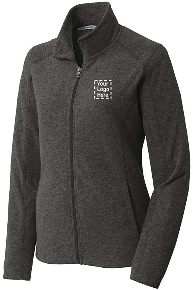 Promo Direct Ladies Heather Microfleece Full-Zip Jacket  36 Qty  38.67 Each  Imprinted Jacket with Your Logo