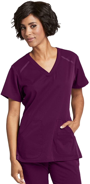 Grey's Anatomy Impact 7188 Women's Elevate Scrub Top Wine 2XL