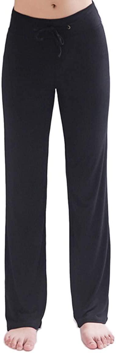 Hoerev Women's Soft Slimming Lounge Pants Yoga Pants Bell-Bottom Pants Flared Bottoms Pants