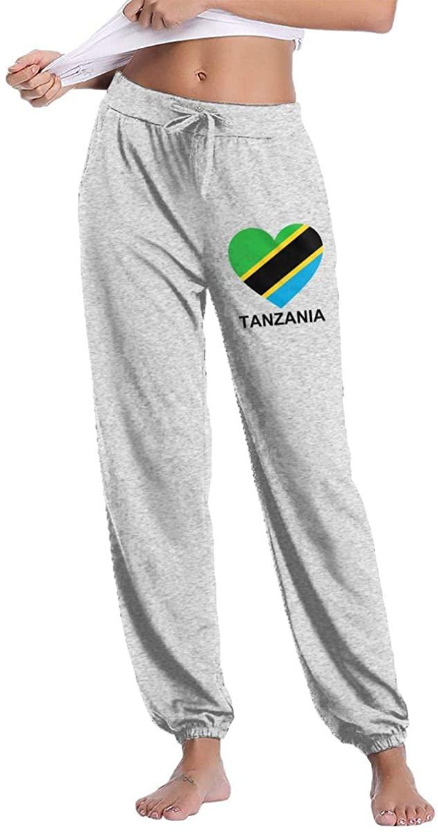 Women's Casual Sweatpants Love Tanzania Fitness Training Jogger Pant