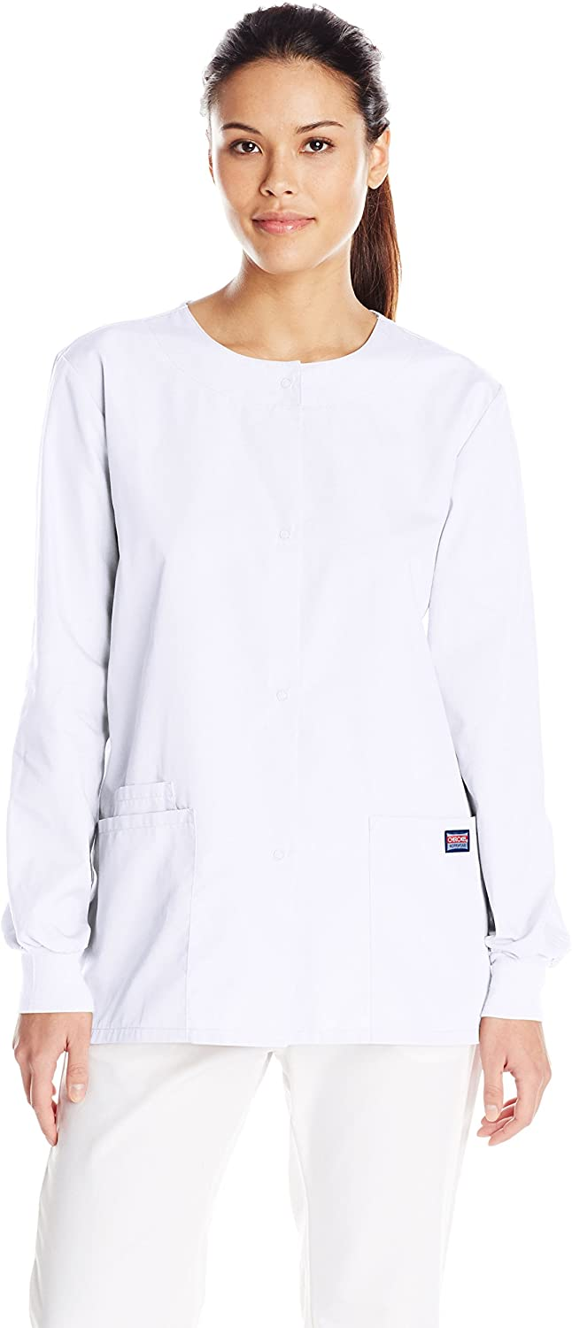 Cherokee Women's Warm Up Scrubs Jacket, White, XX-Large