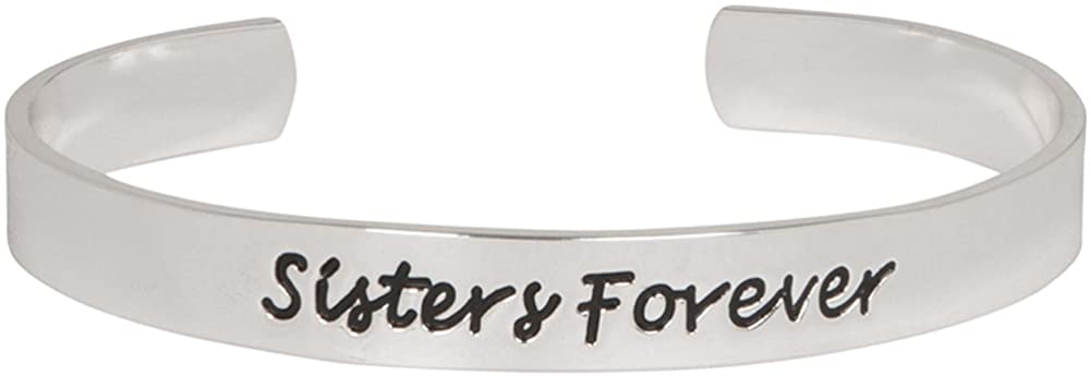 Heirloom Finds Silver Tone Sisters Forever Adjustable Cuff Family Bracelet