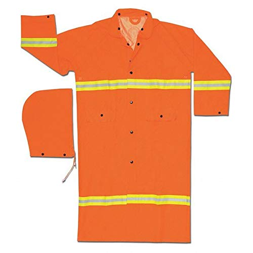 Rain Coat Hood, Hi-Vis Orange, 4XL