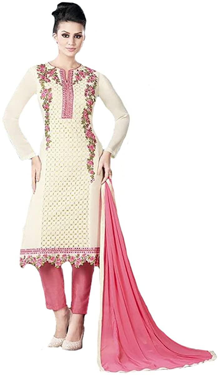 Ethnic Party wear Straight Salwar Kameez Suit Dupatta Ceremony