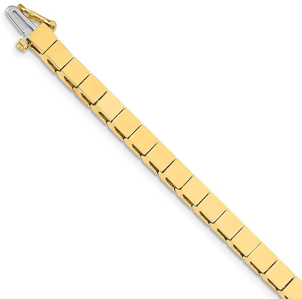 Solid 14k Yellow Gold Add-a-Diamond Classic Tennis Bracelet 7 (Width = 7mm)