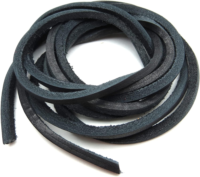 Geniune Leather Shoelaces 1/8