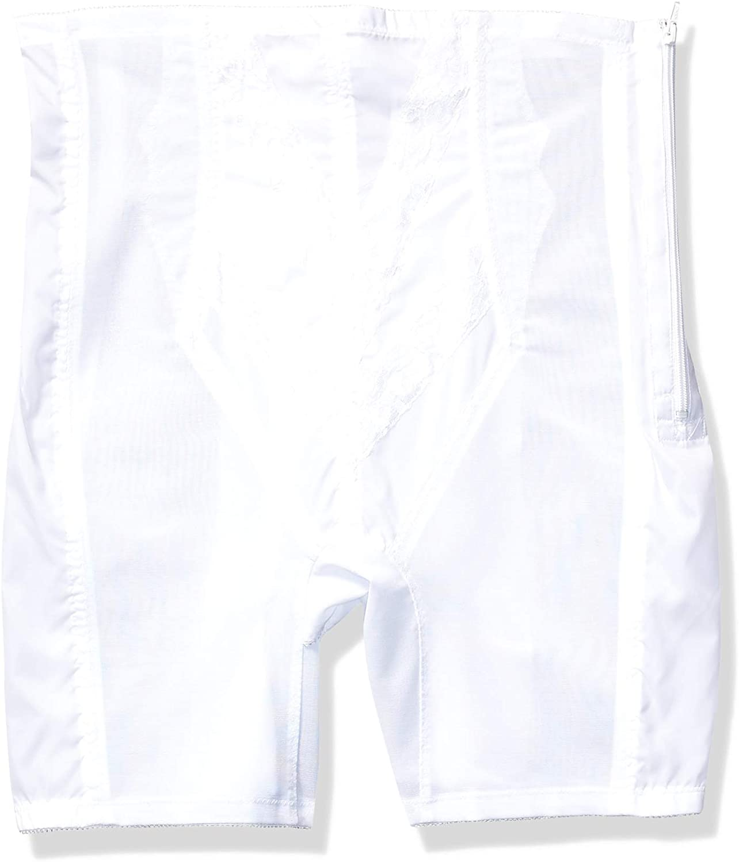 Rago Women's Plus-Size Extra Firm Zippered High Waist Long Leg Shaper (X)