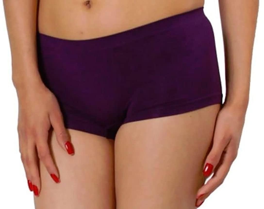 New Sexy Purple Orchid Seamless Boy Shorts Sports Yoga Dancer Bikini Panty O/S