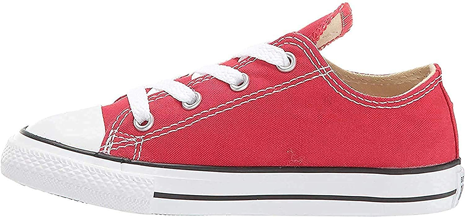 Converse Unisex-Child Chuck Taylor All Star  Low Top Sneaker, red, 10 M US Toddler