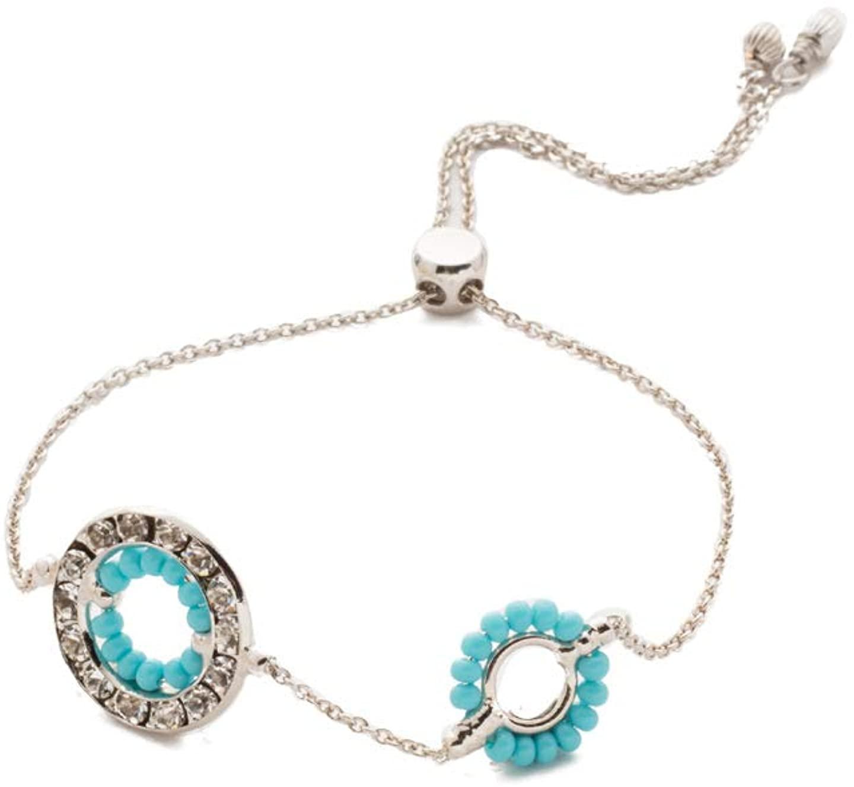 Sorrelli Fire & Ice Slider Bracelet, Blue, Adjustable