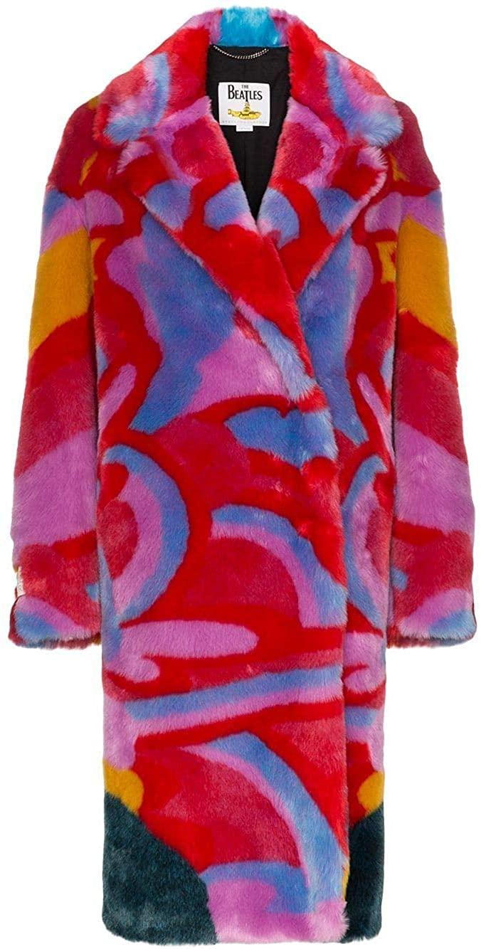 Stella McCartney Luxury Fashion Woman 567073SNB718486 Multicolor Synthetic Fibers Coat | Fall Winter 19