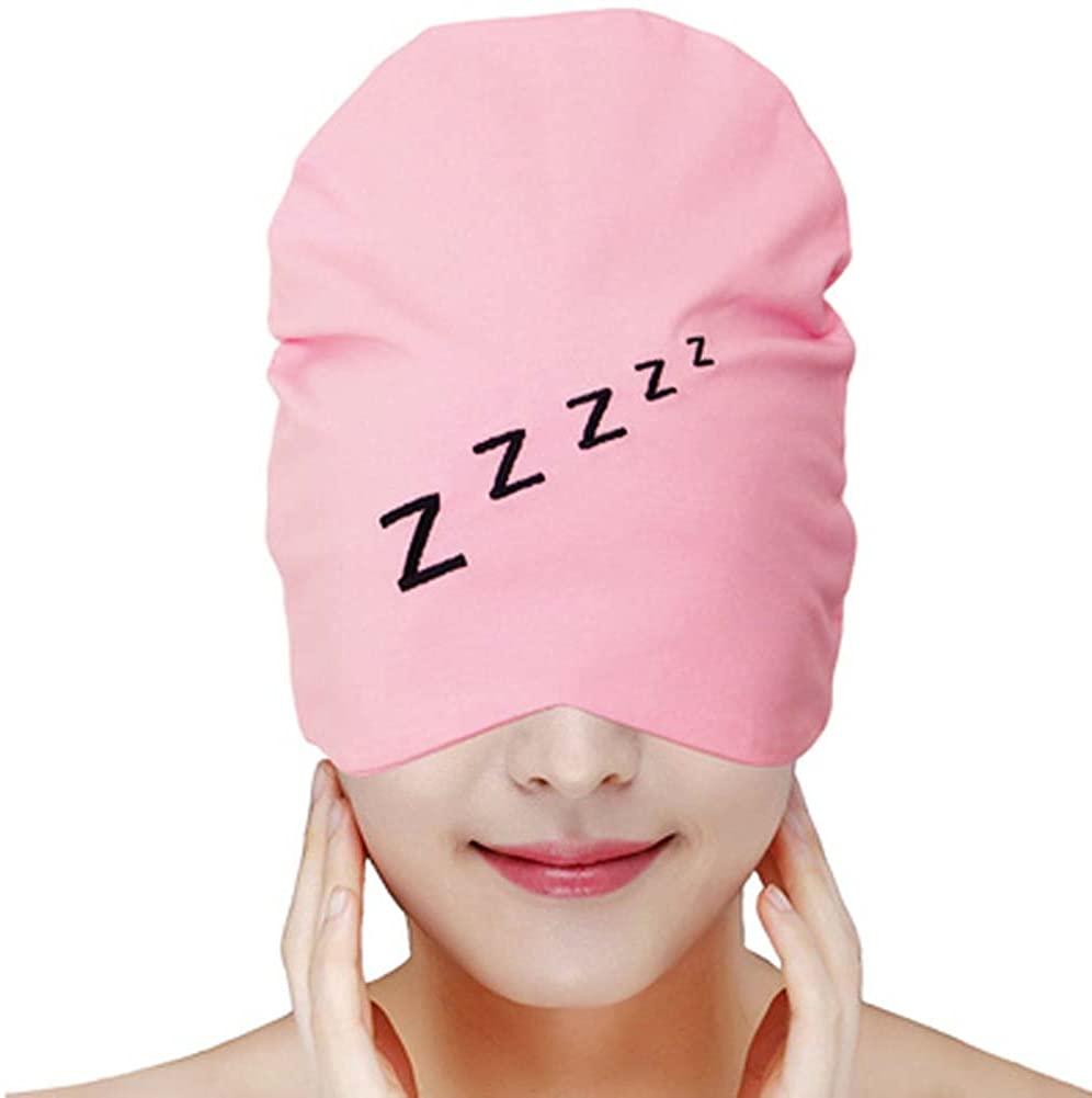 Cotton Nightcaps Skullies & Beanies Sleeping Hats for Unisex Adult/Children, 12 Pink