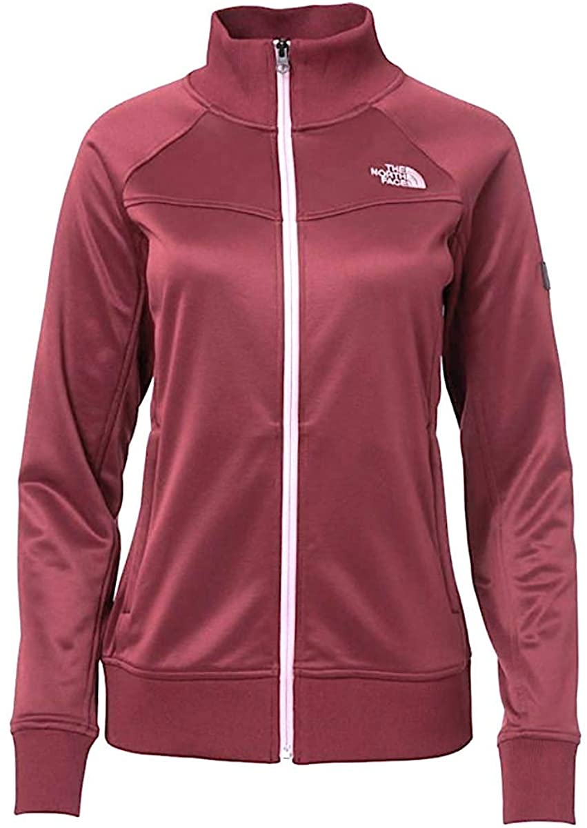 The North Face Women TakeBack Track Jacket in Zinfandel Red Large