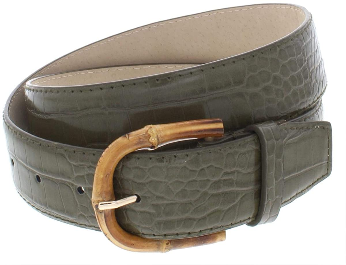 Steve Madden Mens Embossed Faux Leather Casual Belt Green S
