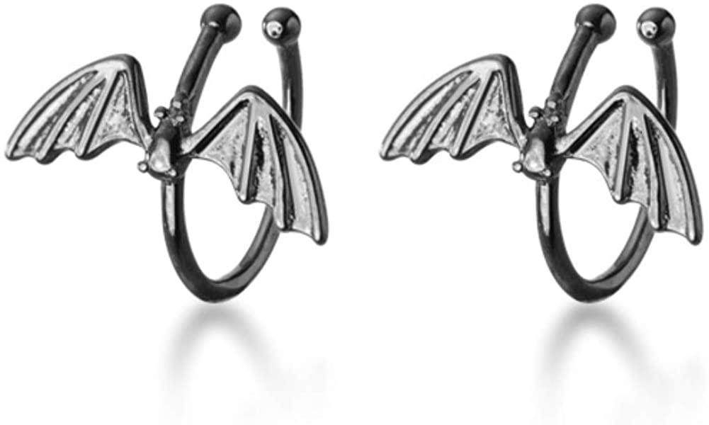 Helen de Lete Wild Animal Black Bat S925 Sterling Silver Earring Cuff