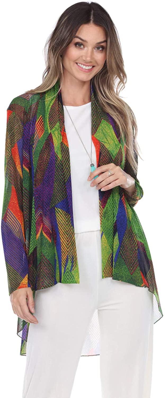 Jostar Women's Mesh Romance Vegas Jacket Long Sleeve Print
