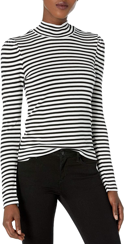 Splendid Women's Long Sleeve Stripe Turtleneck Tee