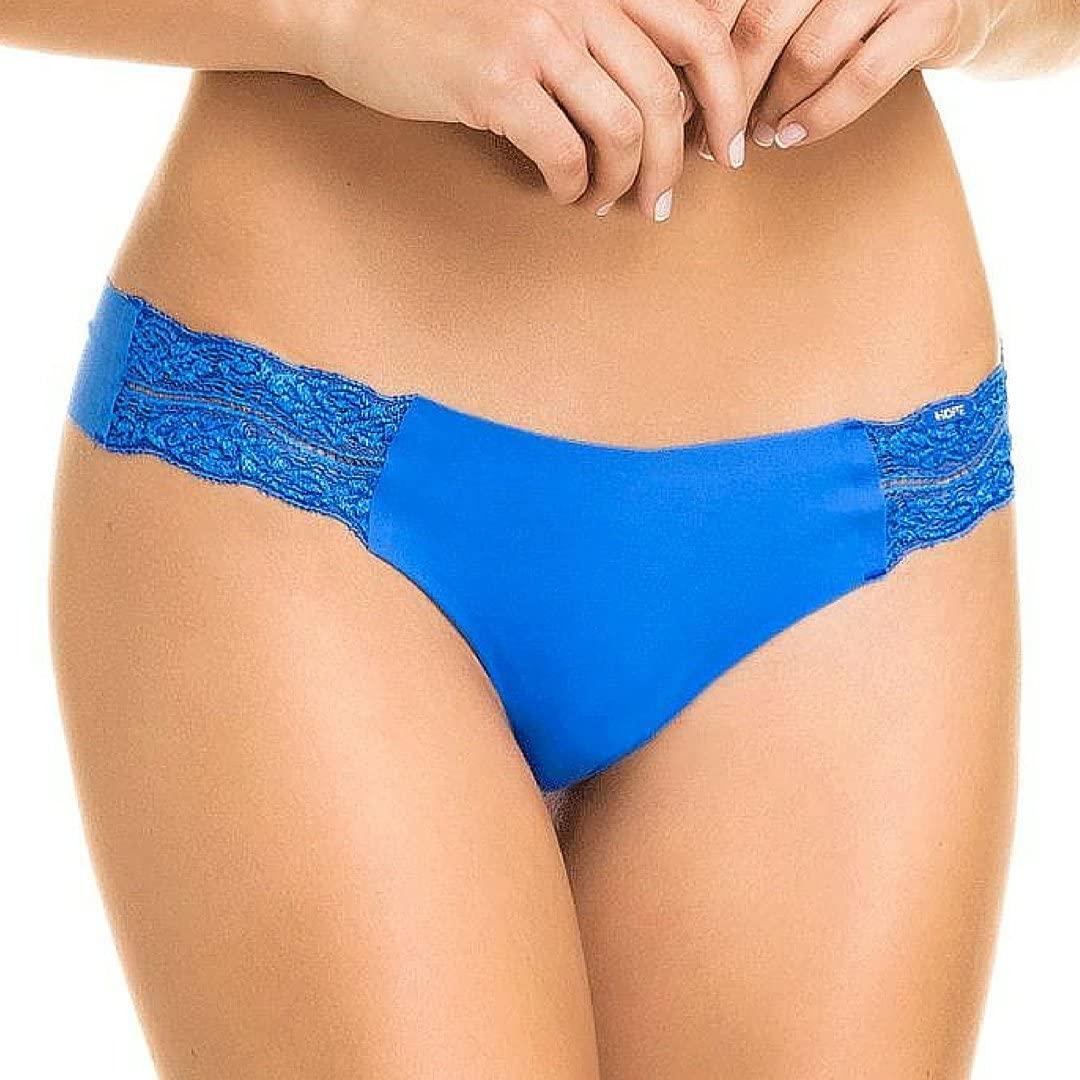 Blue Brazilian Cut Style Panties Womens Lace Seamless Cheeky Hipster Underwear (Medium)