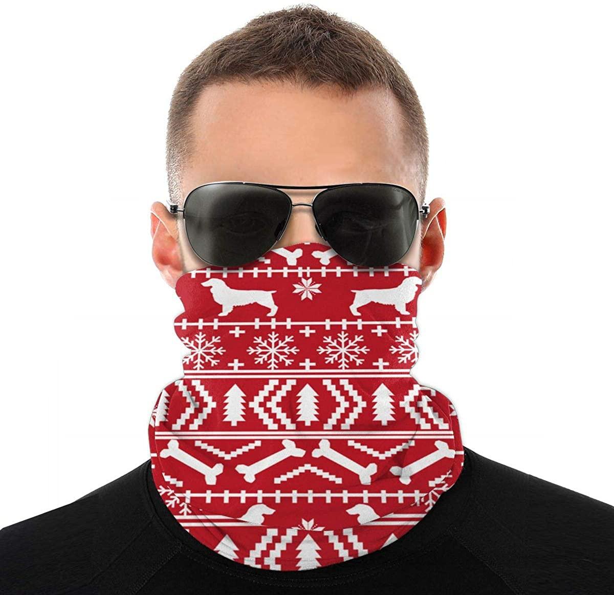 Boykin Variety Head Scarf, Multifunctional Bandanas & Balaclava Anti Dust for Outdoors, Festivals, Sports
