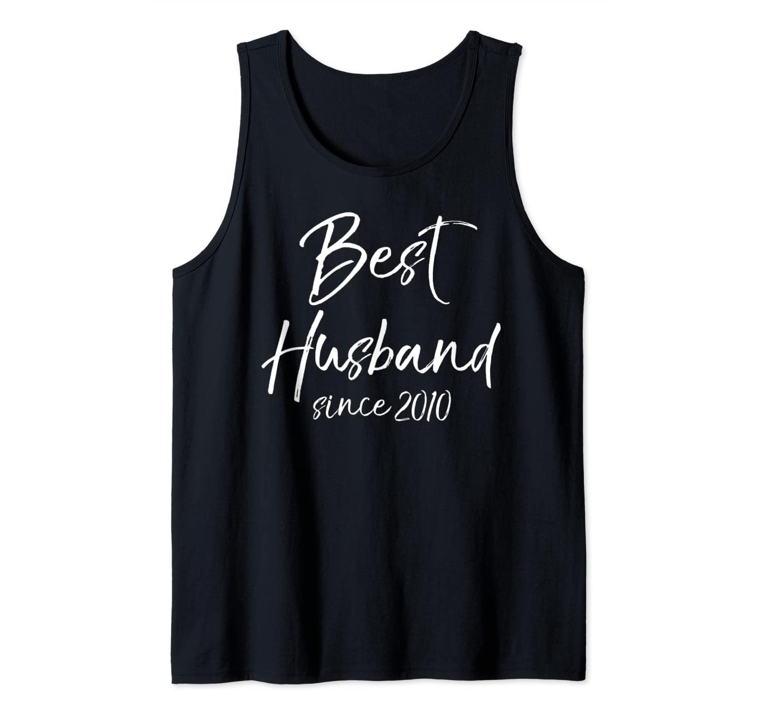 Husband Anniversary Gift from Wife Best Husband Since 2010 Tank Top