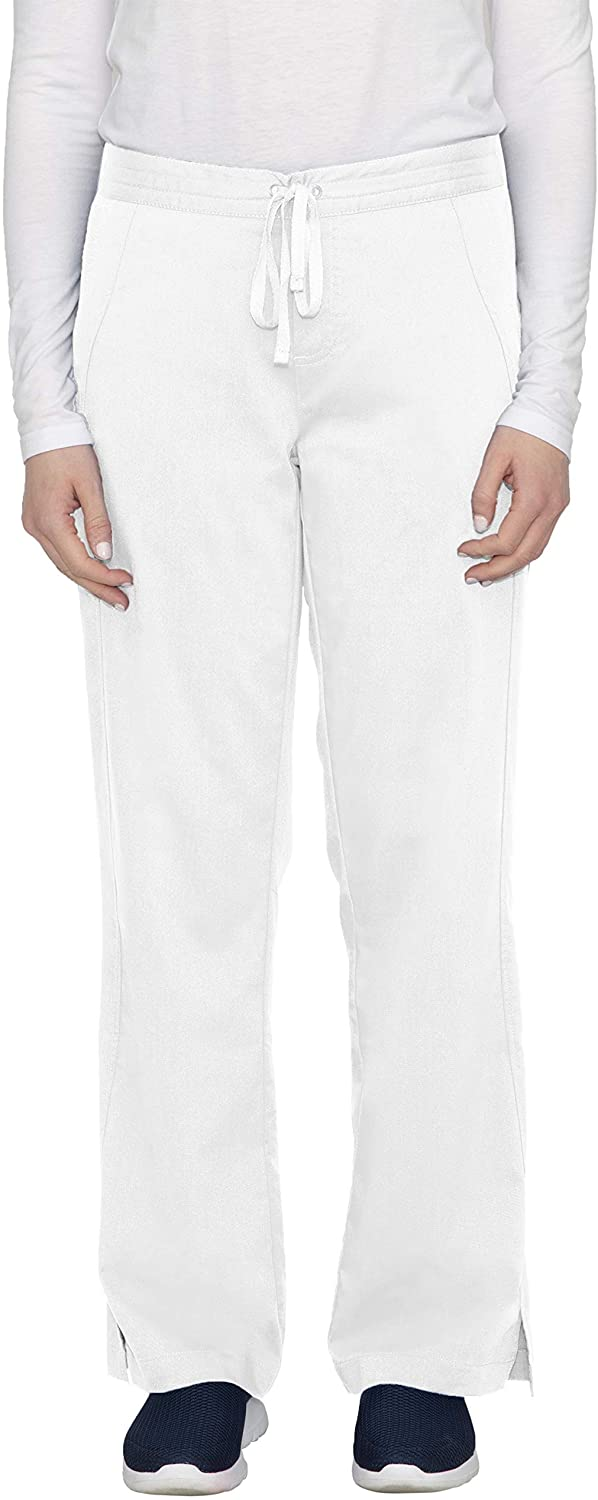 healing hands Purple Label Women's Taylor 9095 2 Pocket Drawstring Scrub Pant Scrubs- White- LP