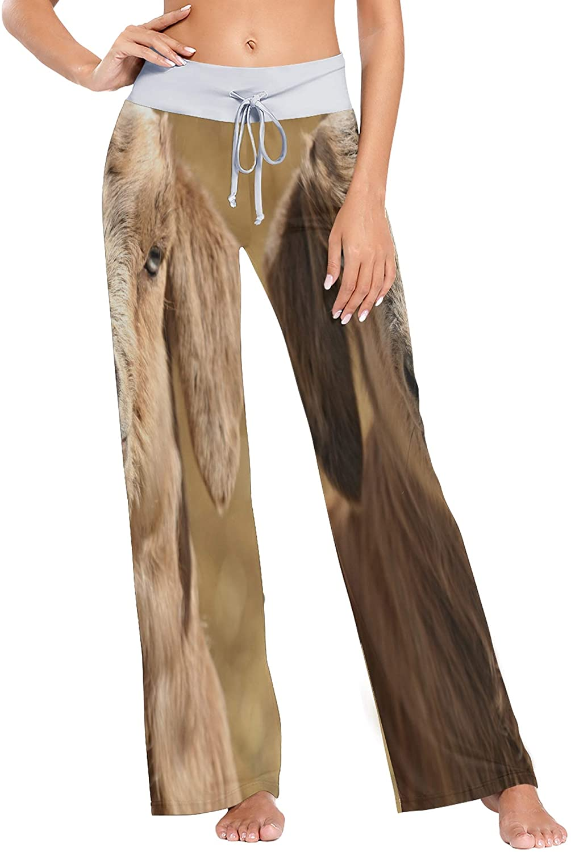 GREEDCLOUD Women's Fashion Yoga Pants Palazzo Casual Print Wide Leg Lounge Pants Comfy Casual Drawstring Long Pajama Pants