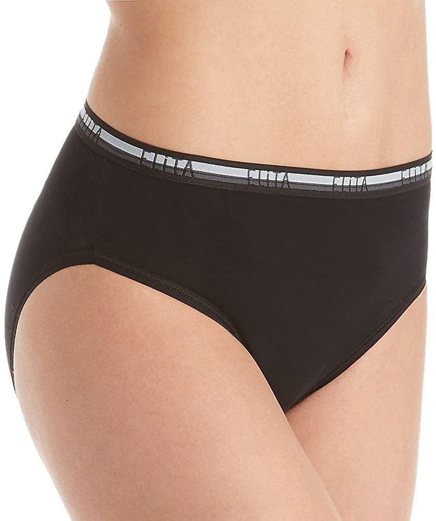 Elita Women's Cotton Touch Hi-Cut Brief Panty 7033