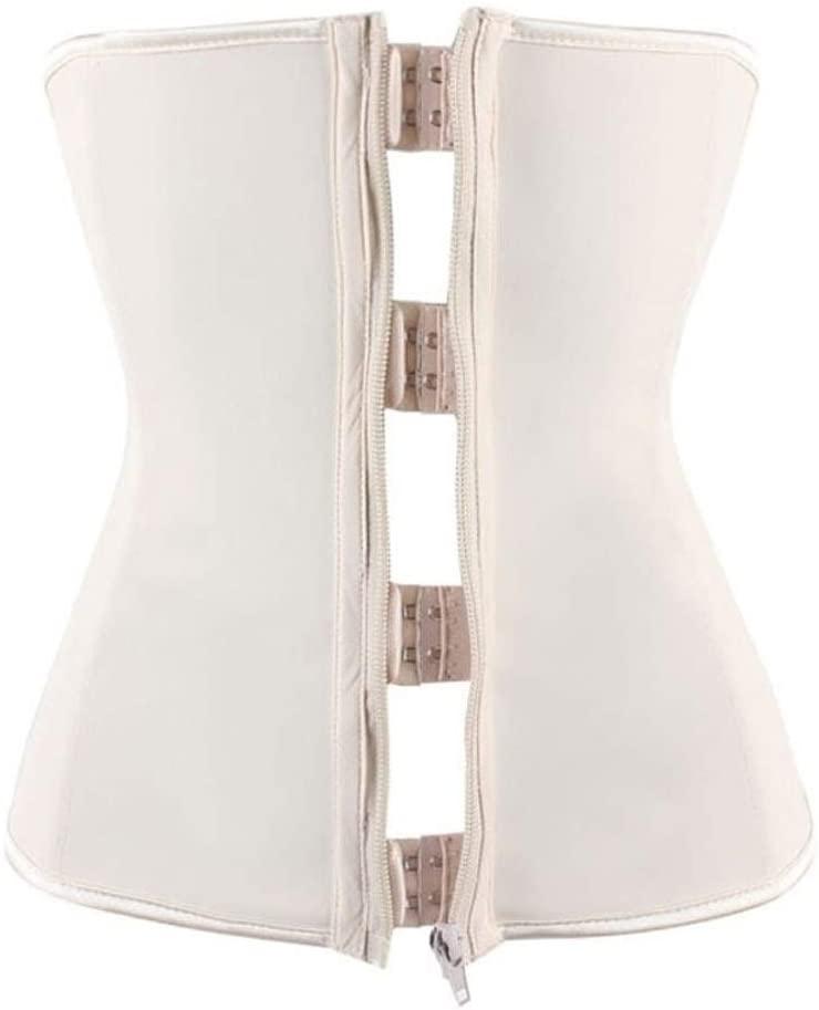 Lumbar Support Latex Waist Trainer Zipper Underbust Tummy Corset Body Shaper Waist Cincher Slimming Belt Plus Size Shapewear Women Back Support Belt (Color : Waist Trainer, Size : XXL)