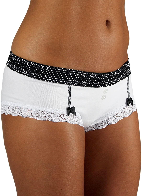 Foxers Cheeky Women's Cotton Boyshort Underwear Cute Boxer Brief Panties | XS-XXL