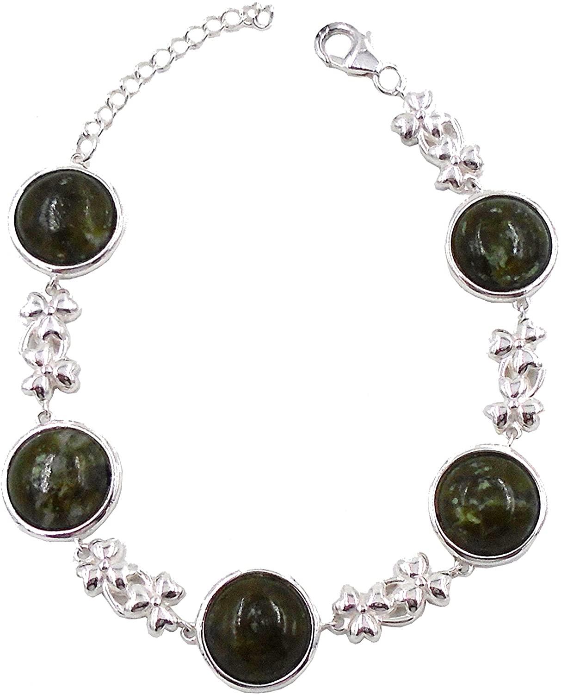 Connemara Irish Marble: Round Link Bracelet…