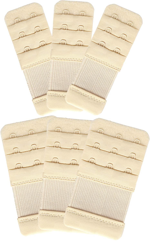 YARBAR Bra Extender 2 Hooks / 3 Hooks / 4 Hooks Soft Lingerie Bra Strap Extension 6PCS